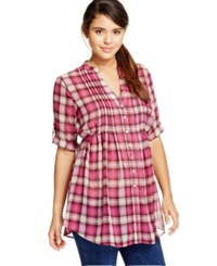 American Rag Printed Pintucked Button Front Camp Shirt Only At Macy's