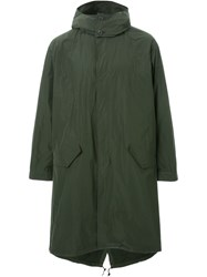 Mr. Gentleman Hooded Raincoat Green