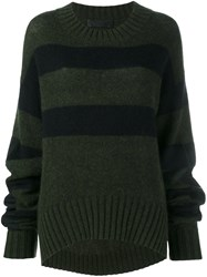 Haider Ackermann Striped Long Fit Jumper Green