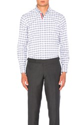 Thom Browne Gingham Check Oxford Shirt In Gray Checkered And Plaid Gray Checkered And Plaid