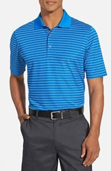 Men's Bobby Jones 'Xh20 Pencil Stripe' Regular Fit Four Way Stretch Golf Polo Sapphire