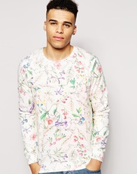 Solid Tailored And Originals Sweatshirt With Ao Floral Print Offwhite0104