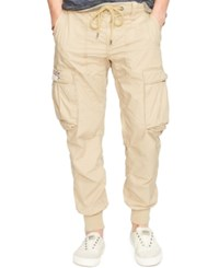 Denim And Supply Ralph Lauren Solid Cotton Jogger Cargo Pants Boating Khaki