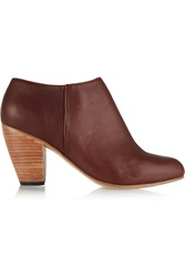 Dieppa Restrepo Camilla Leather Ankle Boots Brown
