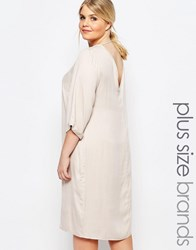 Carmakoma Plunge Back Shift Dress Cream