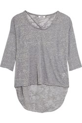 Lna Cape Cotton Blend Top Gray