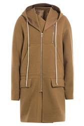 Rick Owens Men Virgin Wool Parka Camel