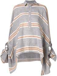 Junya Watanabe Comme Des Garcons Oversized Striped Shirt Grey