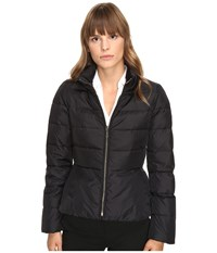 Kate Spade Peplum Puffer Jacket Black Women's Coat