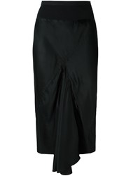 Rick Owens Pleated Detail Skirt Black