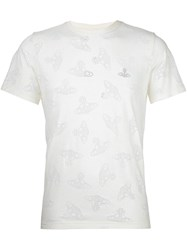 Vivienne Westwood Anglomania Logo Print T Shirt Nude And Neutrals
