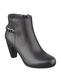 Easy Spirit Parilynn Leather Ankle Booties Black