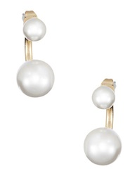 Robert Rose Faux Pearl Drop Earrings Pearl Gold