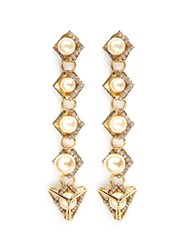 Erickson Beamon 'Bermuda Triangle' Glass Pearl Drop Earrings White