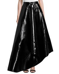 Rosie Assoulin Zorro Faux Leather Skirt Black