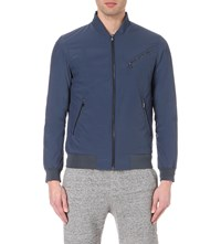 Reiss Anthem Shell Bomber Jacket Airforce Blue