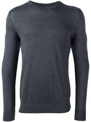 Theory Crew Neck Fine Jumper Grey