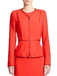 Escada Wool Peplum Blazer Red