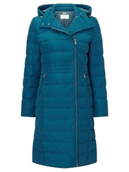 Windsmoor Asymetric Hooded Down Coat Green
