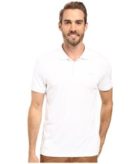 Calvin Klein Short Sleeve Interlock Polo White Men's Short Sleeve Knit