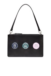 Opening Ceremony Nev Shiny Calf Coins Zip Clutch Black