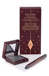 Charlotte Tilbury 'Nocturnal Cat Eyes To Hypnotise' Eyeshadow And Eye Pencil Duo Silver Leopard Limited Edition