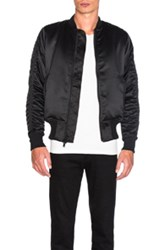 Stampd Charmeuse Bomber In Black