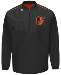 Majestic Men's Baltimore Orioles Training Jacket Black