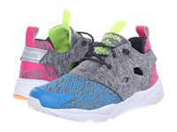 Reebok Furylite Contemporary Electric Blue Coal Dynamic Pink Electric Peach Yellow Women's Shoes