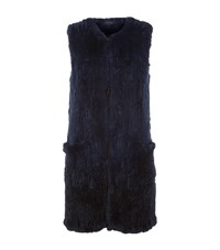Elie Tahari Jill Fur Gilet Female Black