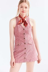 Cooperative Parker Corduroy Button Down Mini Jumper Dress Rose