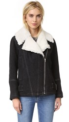 Iro Soizit Shearling Jacket Dark Grey