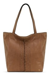 Elliott Lucca 'All Day' Leather Tote Brown Almond Sumatra
