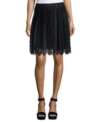 Max Studio Two Tone Lace Skirt Navy Bla