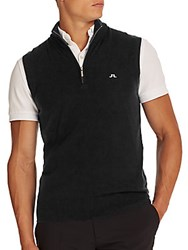 J. Lindeberg Golf Edi Tour Merino Sweater Vest Black