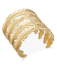 Inc International Concepts Gold Tone Feather Cuff Bracelet Only At Macy's
