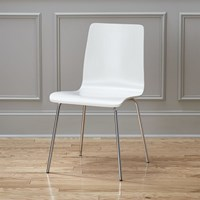 Cb2 Ideal Ii White Chair