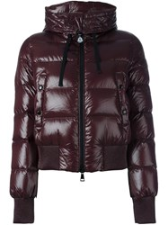 Moncler 'Sotiria' Padded Jacket Pink And Purple