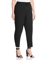 Eileen Fisher Plus Silk Drawstring Ankle Pants Black