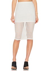 Kendall Kylie Laser Cut Out Skirt White