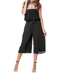 Guess Cropped Off The Shoulder Jumpsuit Black
