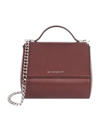 Givenchy Mini Pandora Metallic Box Bag Female Oxblood