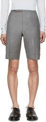 Thom Browne Grey Wool Shorts