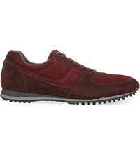 Car Shoe Suede Running Trainers Red