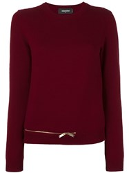 Dsquared2 Zip Bottom Knitted Jumper