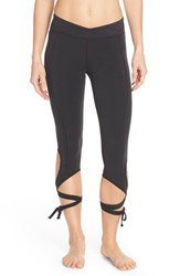 Women's Free People 'Turnout' Tie Up Leggings Black