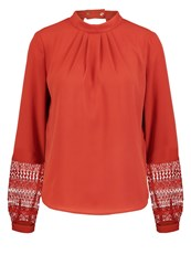 Mintandberry Blouse Red Ochre Dark Red