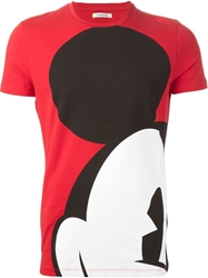 Iceberg Mickey Mouse Print T Shirt Red