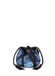 See By Chloe 'Vicki' Metallic Sequin Bucket Bag Metallic Multi Colour