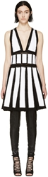 Givenchy Black And White Studded Crochet Dress